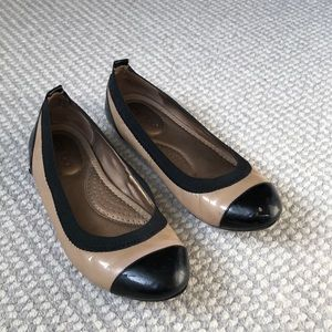 Me Too ballet flats! Size 7 - Beige/Black